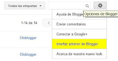Acceso a interfaz antigua de Blogger
