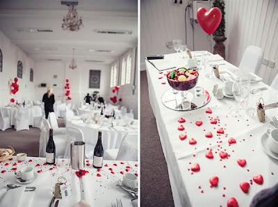 red and white beach wedding 04
