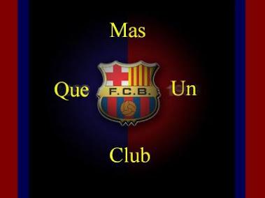 El escudo del Barcelona.