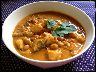 Recipe: Coconut milk chickpea and lentil curry