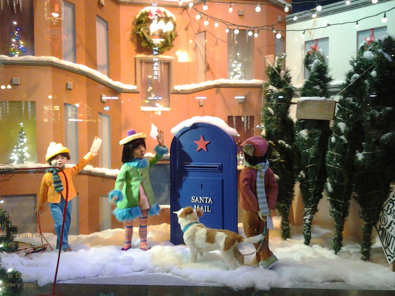 Chicago Macy's Christmas Windows 2014; Mailing my letter to Santa