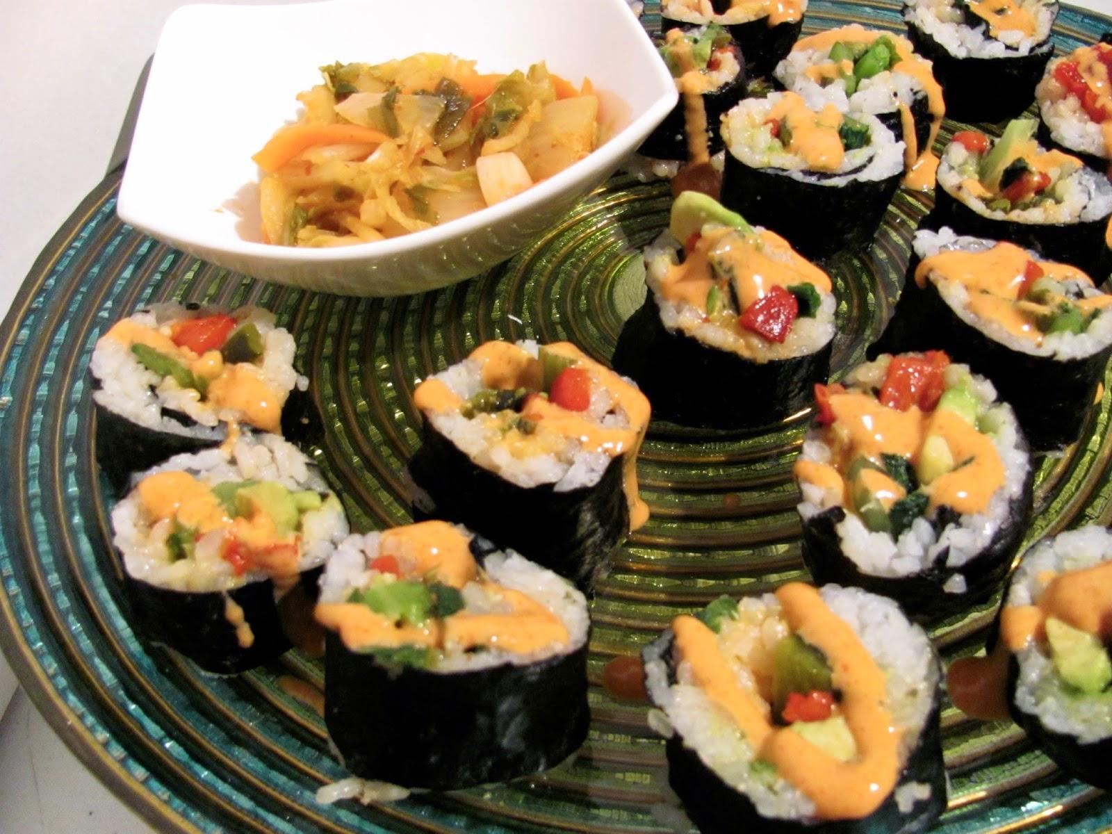 Vegan Sushi | Spicy Avocado Roll
