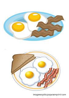huevos fritos para un desayuno