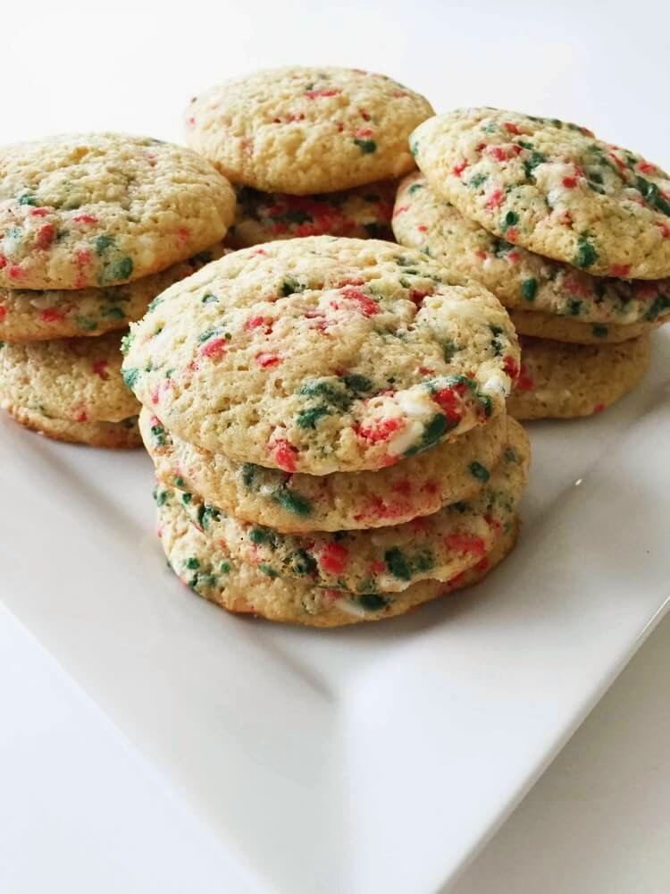 Skinny Holiday Confetti Cake Mix Cookies, The Skinny Fork, 91.2 calories