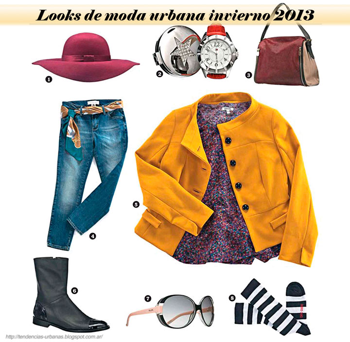 Looks de moda urbana mujer invierno 2013
