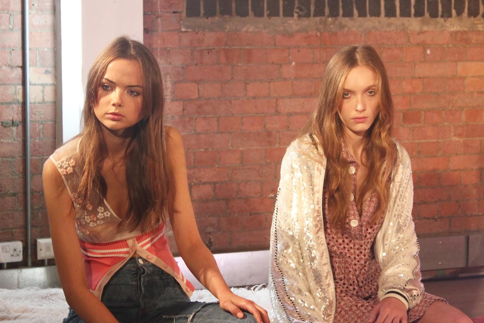 Georgie Minter-Brown, actress, blogger, fashion, london fashion week, designer, Vinti Andrews, presentation, models
