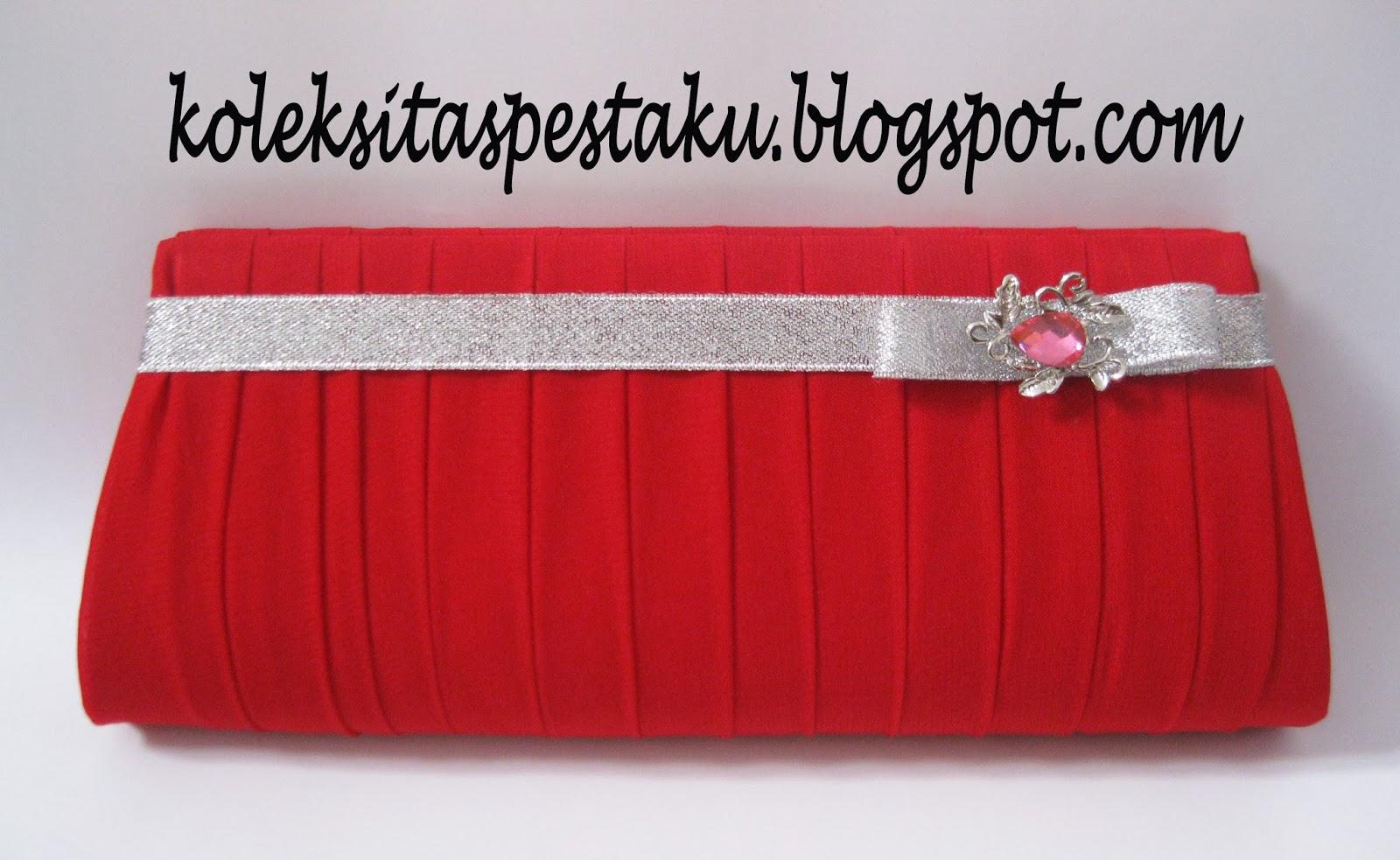 Merah Mewah Tas Pesta
