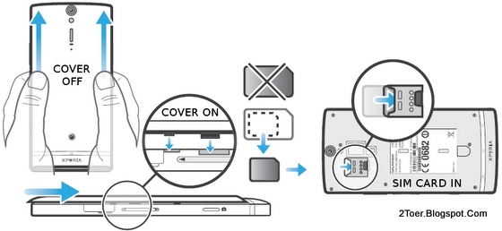 Open Back Cover Casing Insert microSIM Card Sony Xperia SL LT26ii