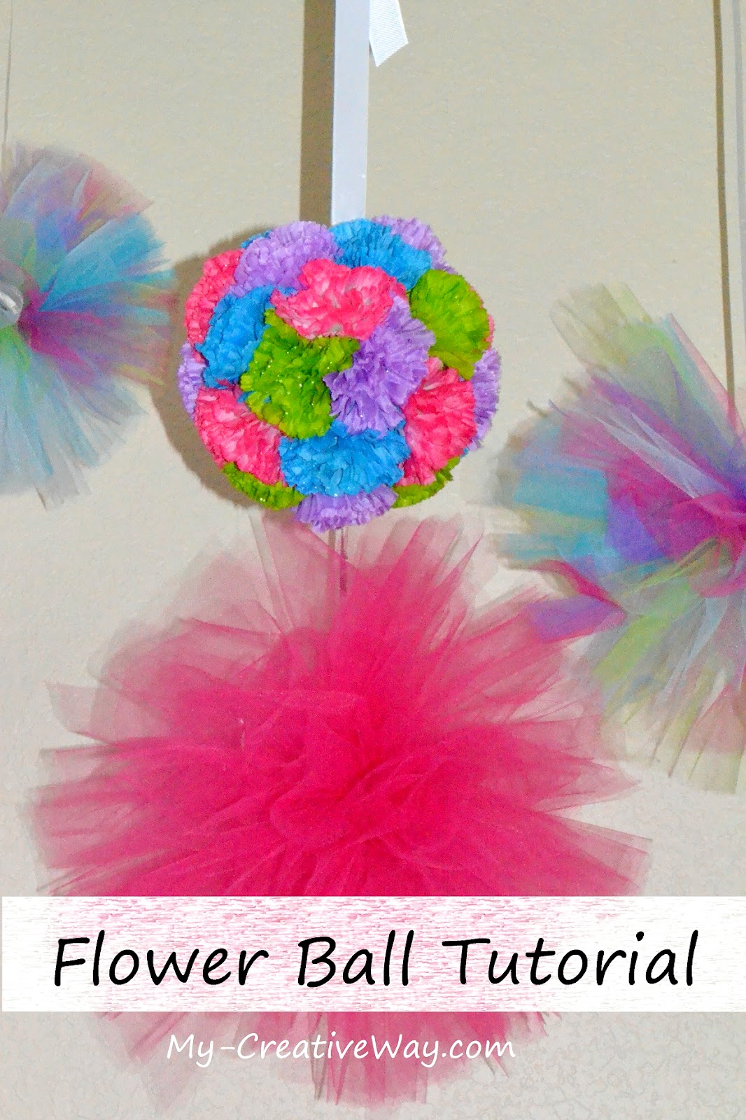 How To Make Hanging Flower Ball Diy