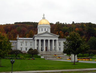 Vermont state capitol building in Montpelier during fall