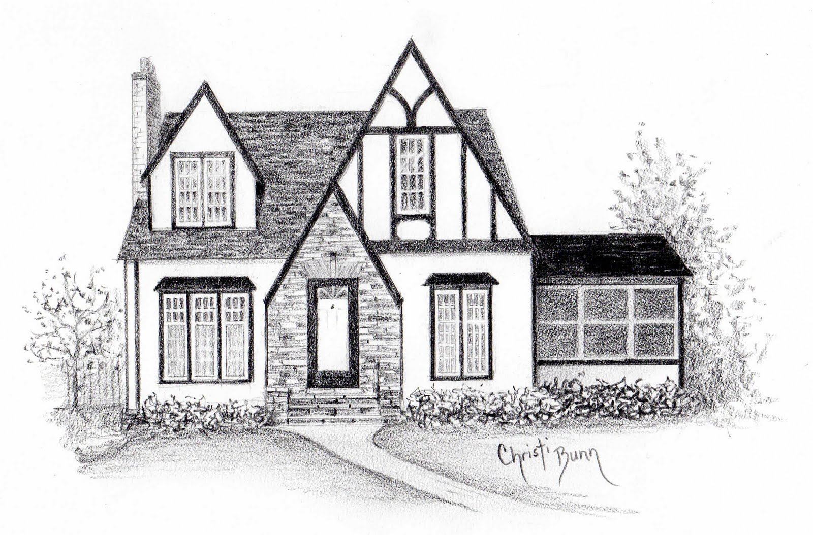The Tudor Cottage Was Great And Second One Is A London Townhome Such Fun To Draw I Am Looking Forward New Commission In Next Few Months Of