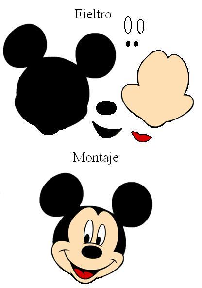 Moldes de la cara de Mickey Mouse en goma eva - Imagui