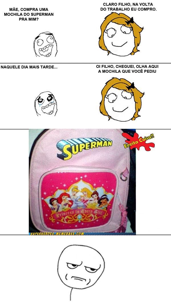 mochila, superman, meme, eeeita coisa