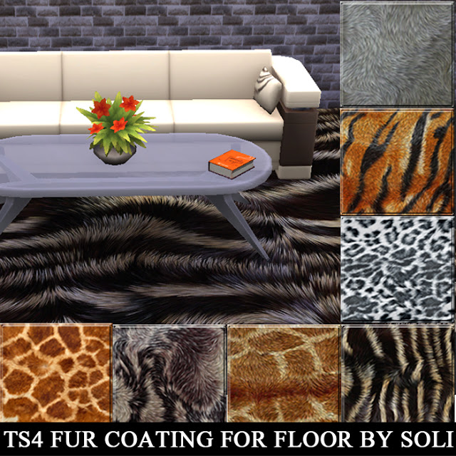 My Sims 4 Blog: Fur Rugs By Soli Sims Blog