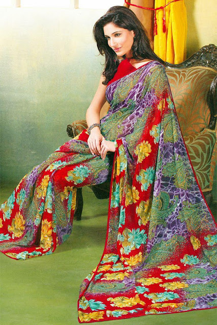 Printed Sarees Seen On www.coolpicturegallery.us