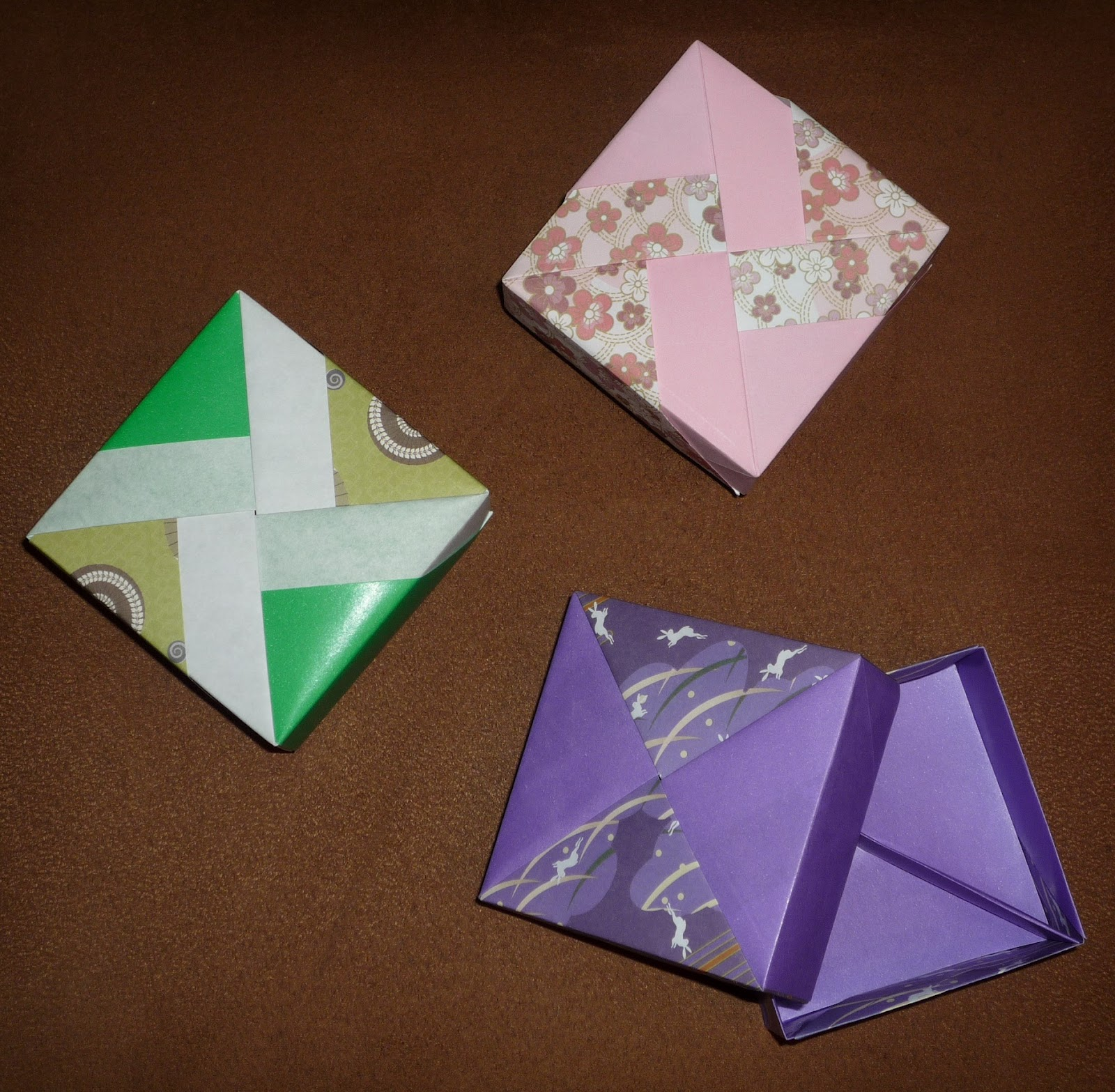 Creaciones En Origami Abril 2012 Tomoko Fuse Diagrams Today I Publish Some Sqare Boxes Based In By And Folded Fabriano Yoshi Papers Of Different Colours
