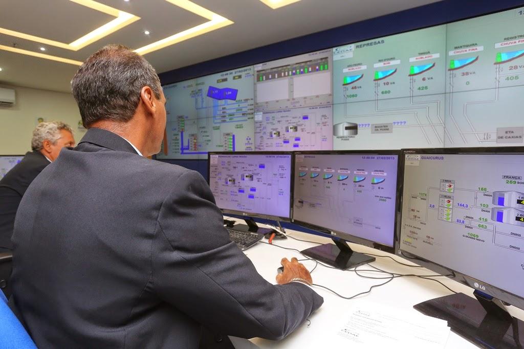 Centro operacional monitora abastecimento no Estado do Rio