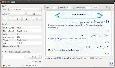 Alqur'an Digital di Ubuntu