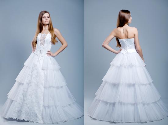 Vestidos de novia de falda esponjosa al estilo princesa. |
