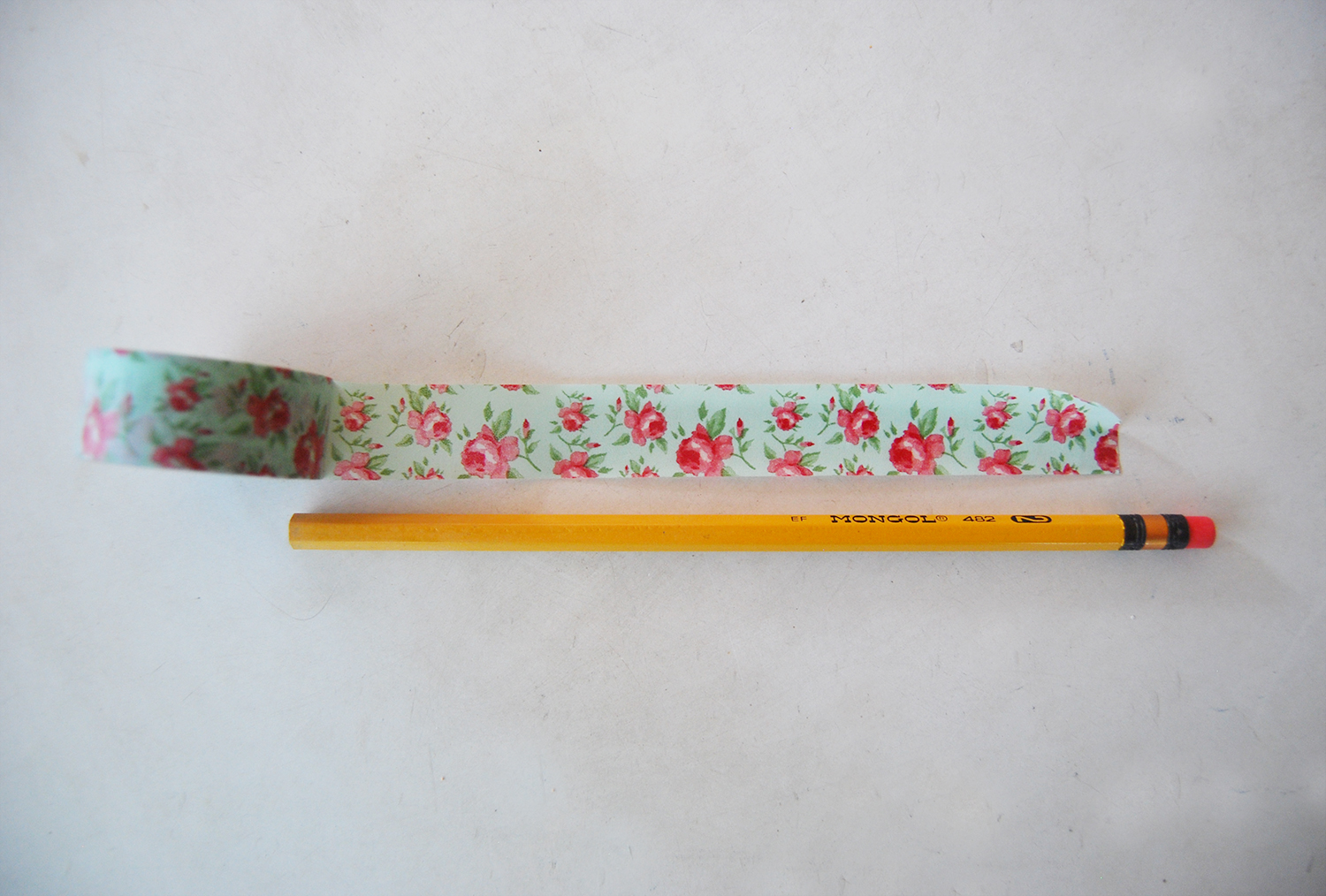 The pink doormat decorate your pencils with washi tape for What can you do with washi tape
