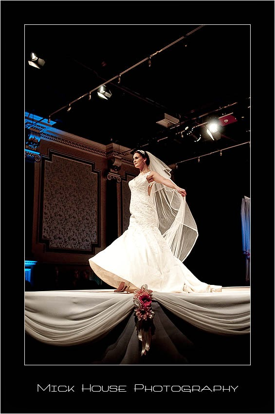 White wedding dress with veil