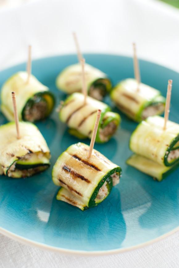 Scandi Home: Zucchini rolls with almond, rosemary and lemon stuffing