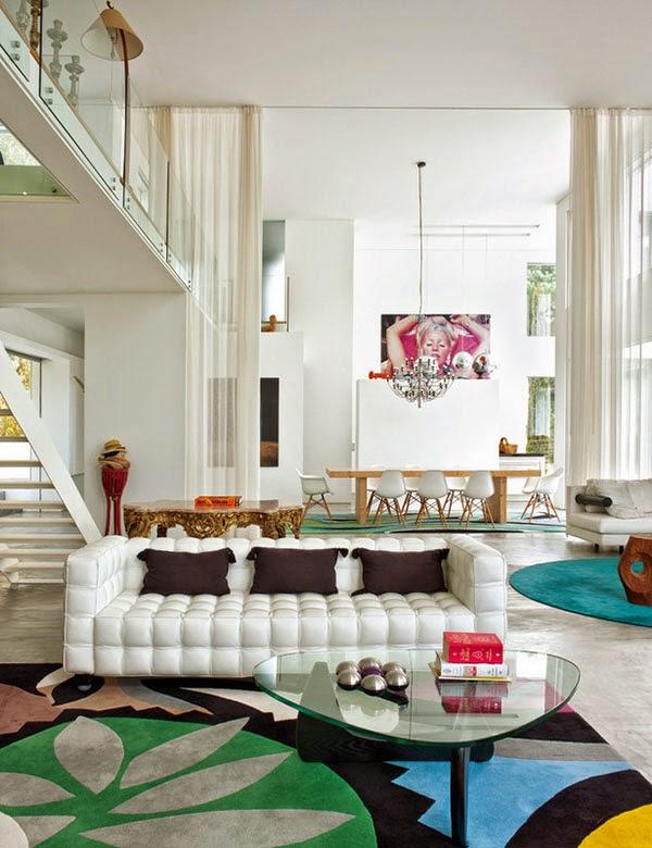 Italienisches Design mit Eames Chair in skandinavischem Stil Einrichtung Mix - perfekter ewiger Sommer im Haus