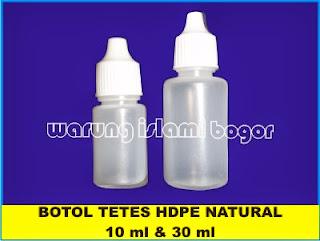 Botol Tetes 30 ml dan 10 ml Warna Bening Natural Material HDPE