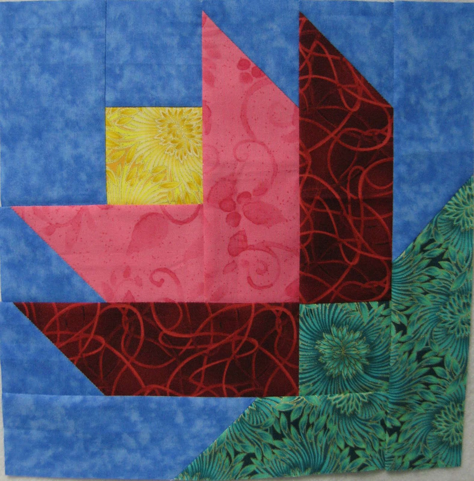 Hooked on Needles: Layer Cake Quilt-Along Block Ten