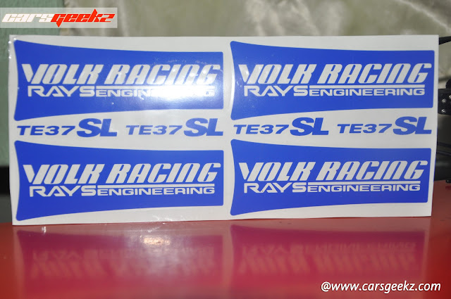Volk Racing Rays Engineering TE37SL decal