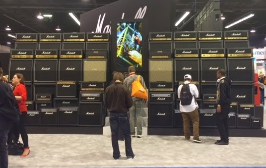 Big Marshall Stack At NAMM 2014 image