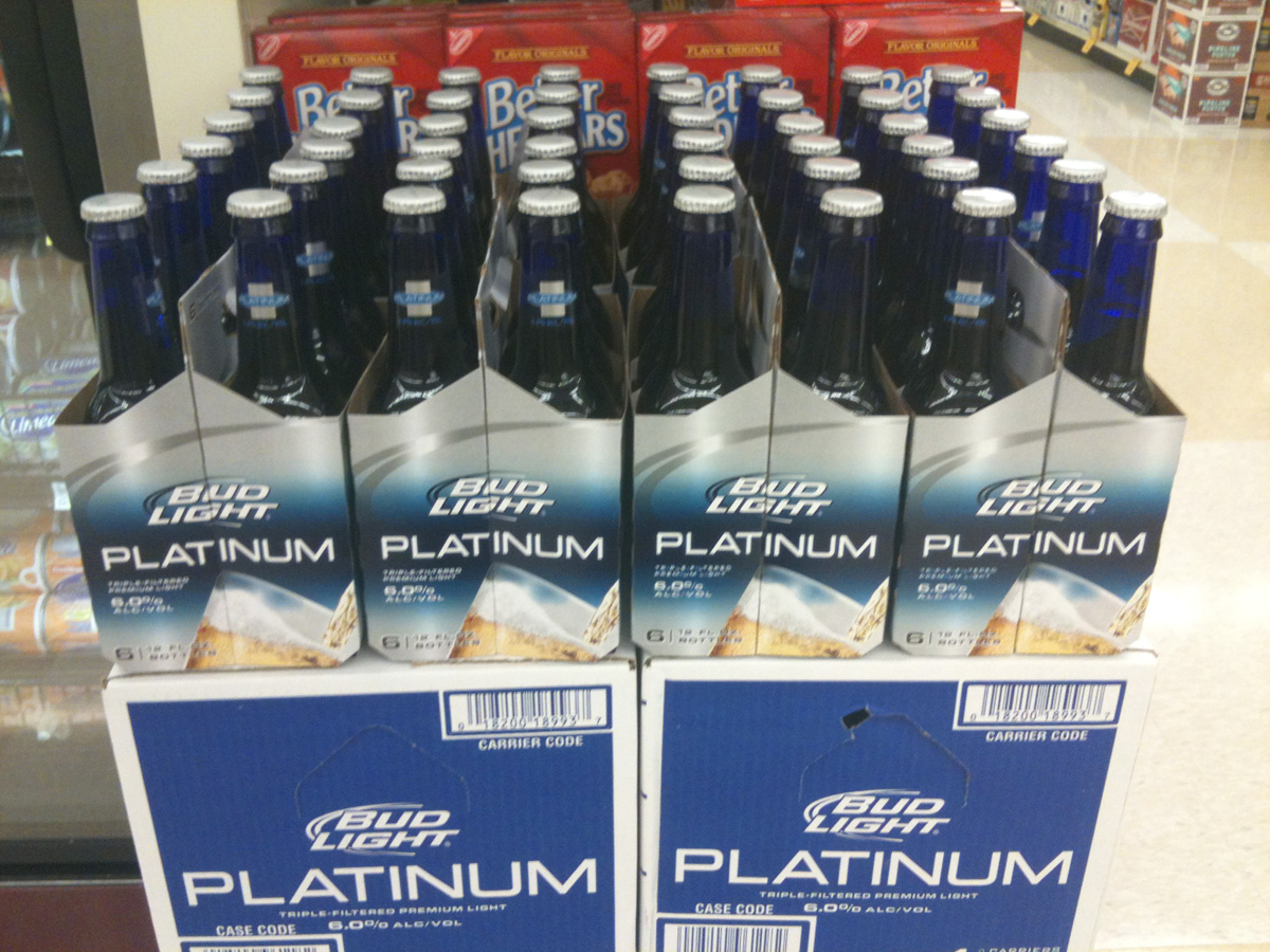 and slim lager beer platinum wine can light pack bud