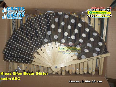 Kipas Sifon Besar Glitter murah