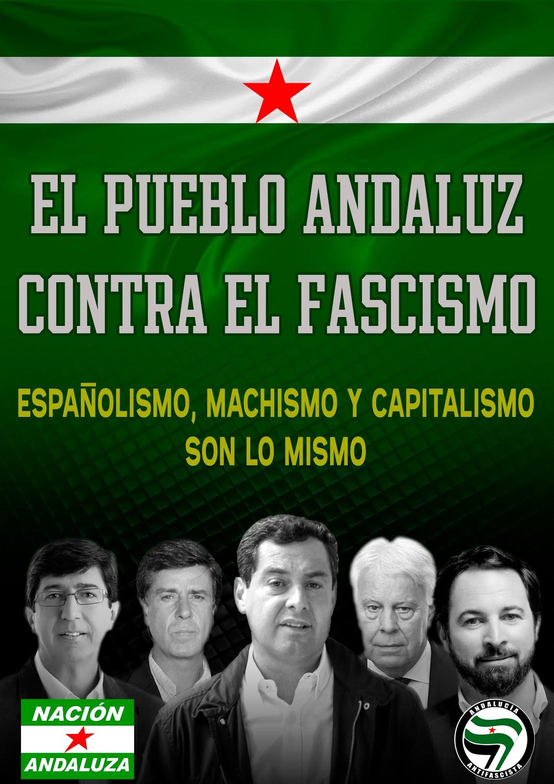 ¡Andalucía antifascista!