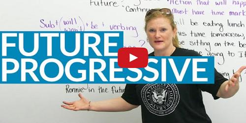 future progressive tense explanation