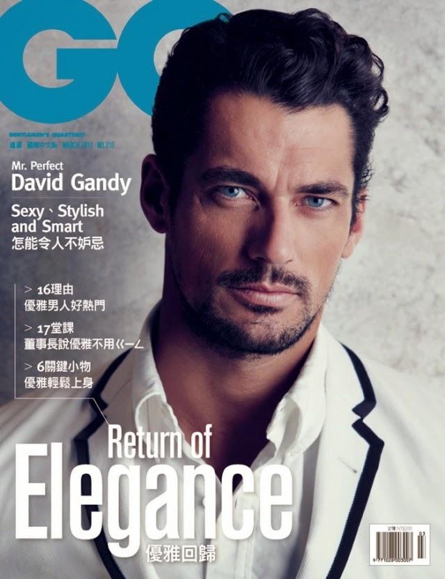 David Gandy portada de la Revista GQ Taiwán