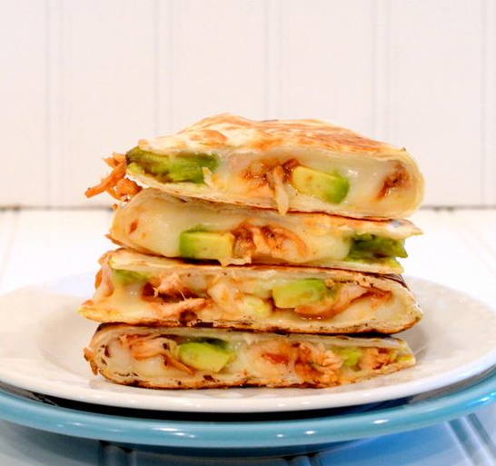 BBQ Chicken & Avocado Quesadillas Recipe