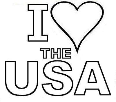 American coloring pages picture i love usa for I love usa coloring pages