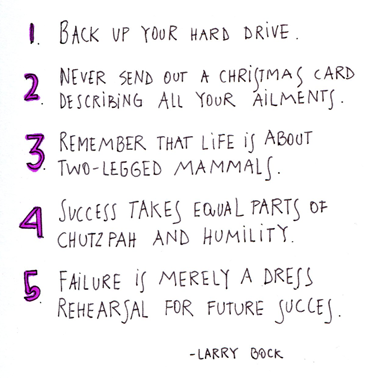 graduation quotes life lessons larry bock