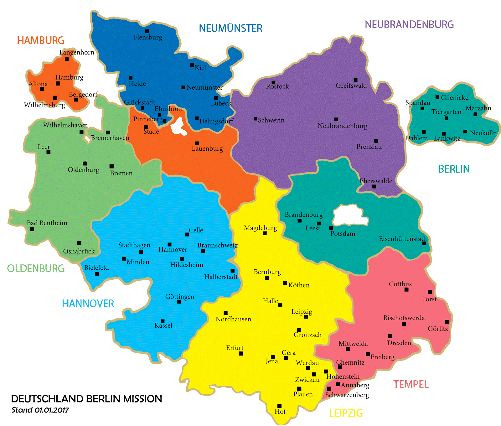 Germany Berlin Mission - Germany map 2015