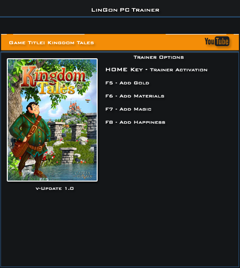 Kingdom Tales v1.0 Steam Trainer +4 [LinGon]