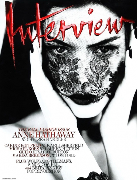 Anne Hathaway @ 'Interview' Magazine Cover !