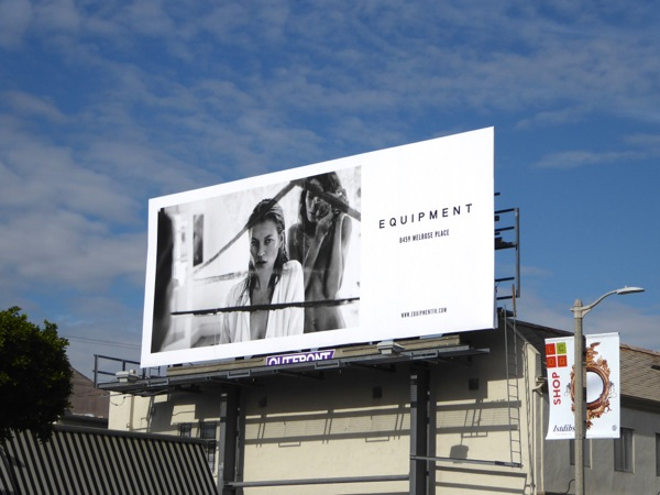 Equipment Melrose Place store fashion billboard