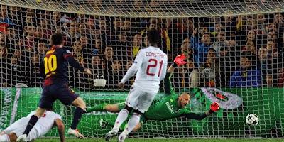 Hasil Pertandingan Barcelona Vs AC Milan di Liga Champions