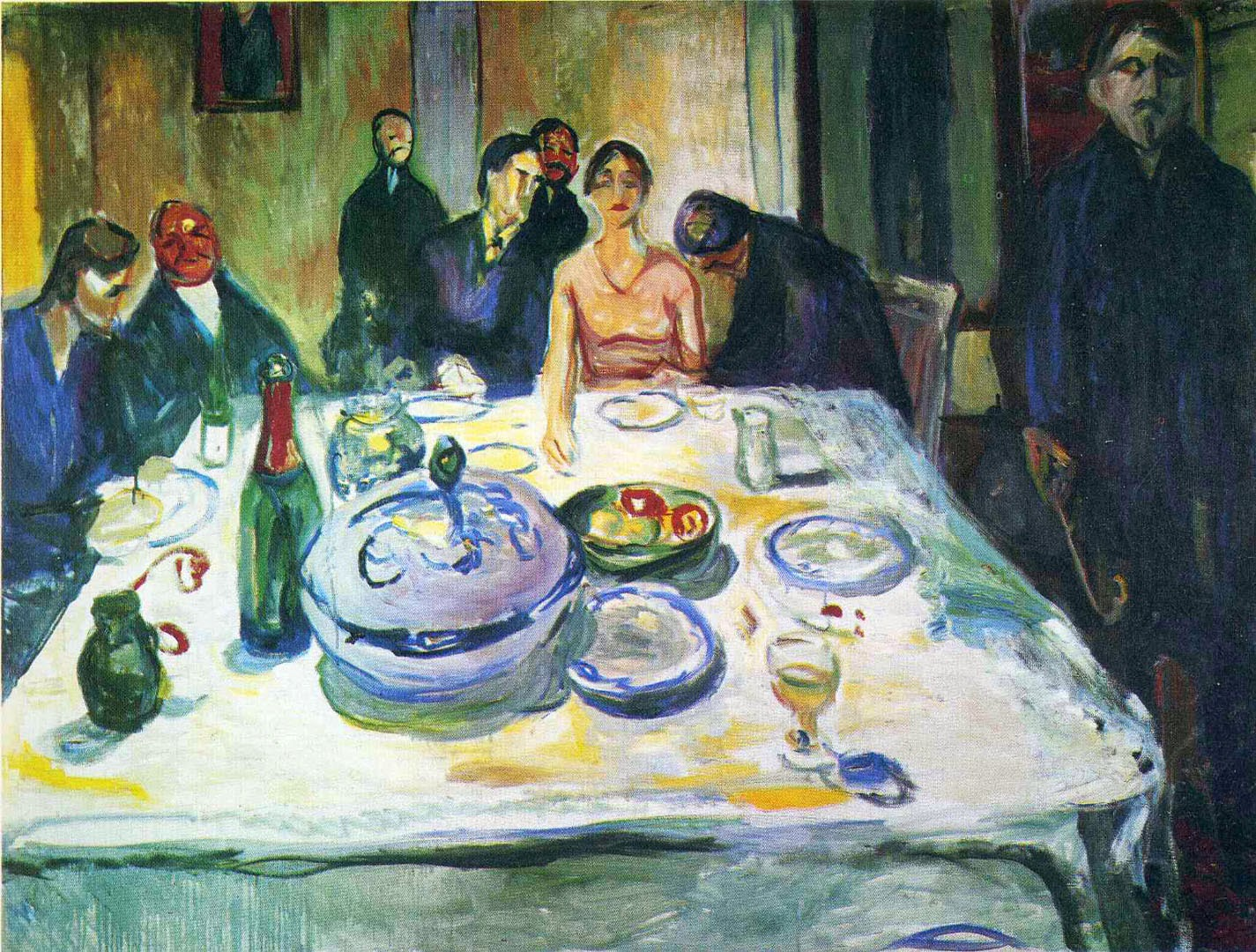 the dinner party painting