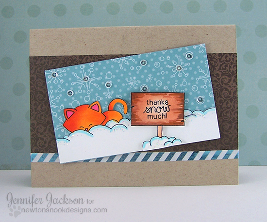 Thanks snow much Kitty Card by Jennifer Jackson | Winter Tails Stamp set by Newton's Nook Designs