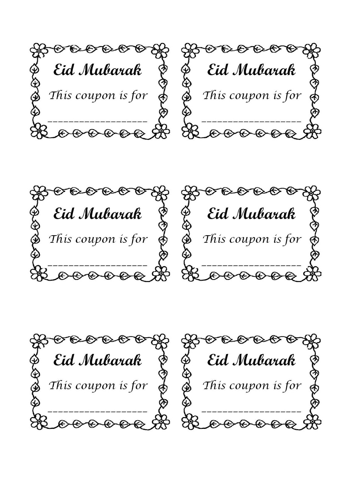 ilma education s eduparenting coupons as eid gifts for all ages you can cut them out and give individually or you can cut them then staple them together to give as a booklet if you give them as a booklet