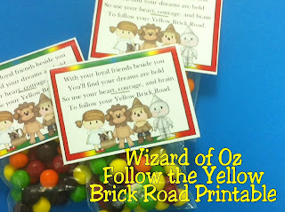 Wizard of Oz Follow the Yellow brick Road Printable by Kims Kandy Kreations