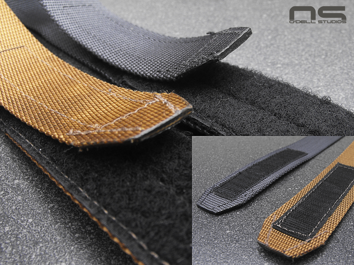 fit and finish details of nylon gun belt