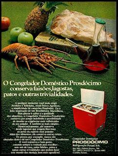 congelador (freezer) Prosdócimo; freezer; geladeira; anos 70.  década de 70. os anos 70; propaganda na década de 70; Brazil in the 70s, história anos 70; Oswaldo Hernandez;
